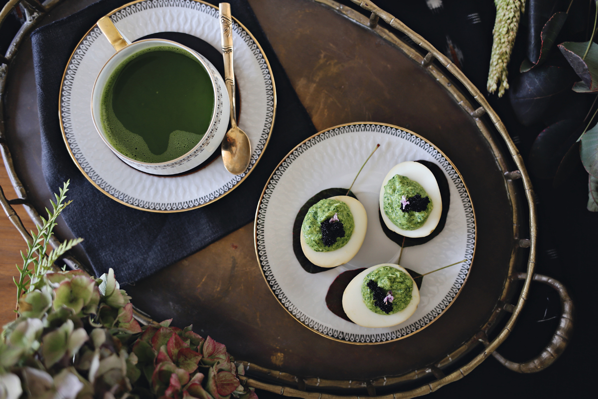 Autumn Inspired Tea Party With Matcha Deviled Eggs Recipe