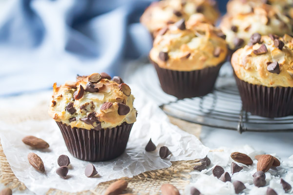 Almond, Coconut & Chocolate Muffins