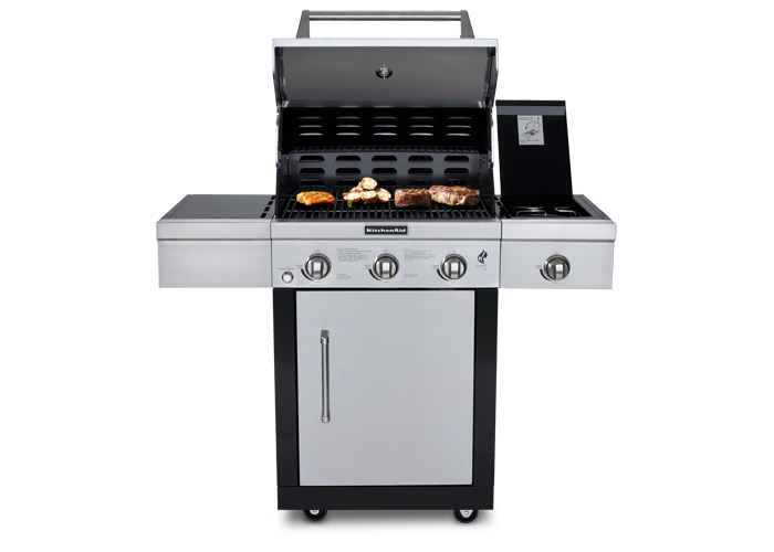 kitchenaid 3 burner gas grill the kitchenthusiast. Black Bedroom Furniture Sets. Home Design Ideas