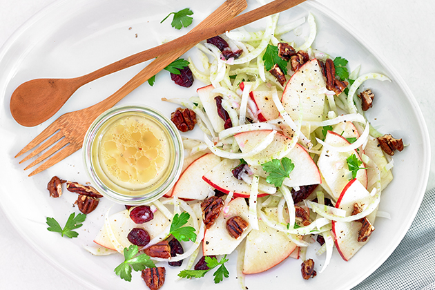Apple, Fennel, Pecan and Cranberry Salad