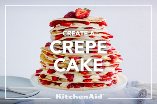Three Tier Crepe Cake Strawberries Recipe