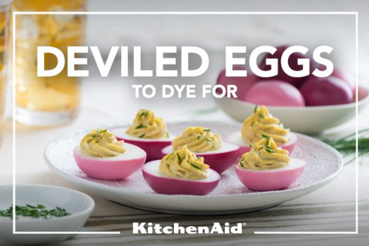 Naturally Dyed Deviled Eggs Recipe