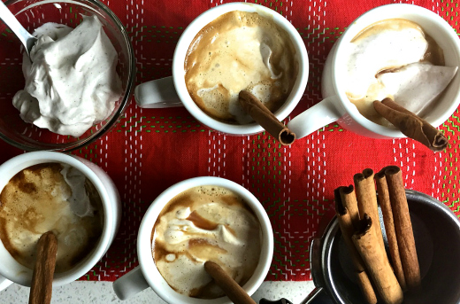 Cinnamon Infused Espresso with Spiced Whipped Cream Recipe