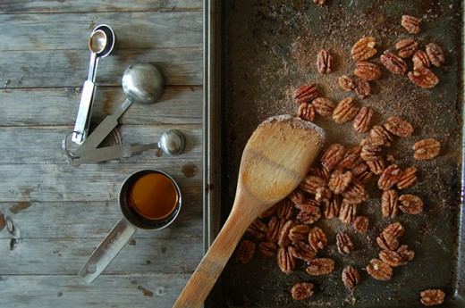 Pumpkin Mousse with Candied Maple Pecans Recipe