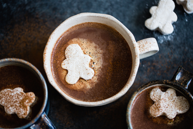 Gingerbread Hot Cocoa and Marshmallow Men Recipe