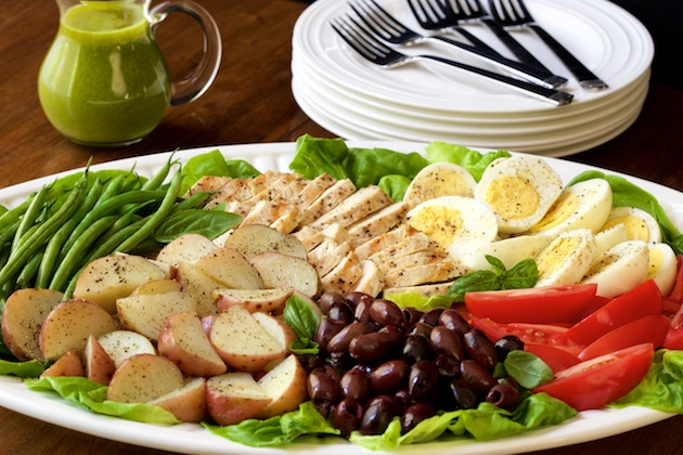 Grilled Chicken Nicoise Salad - The Kitchenthusiast