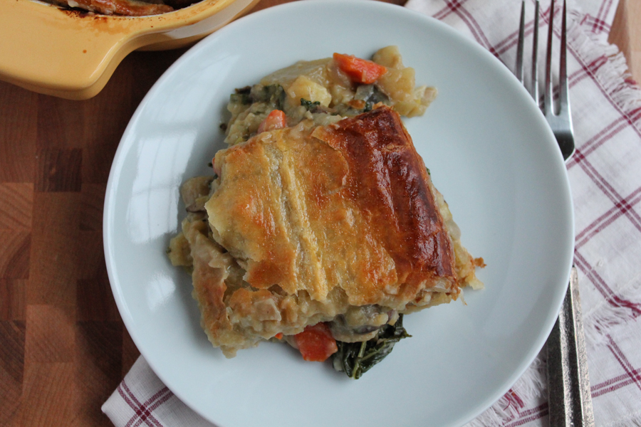 Seasonal Vegetarian Pot Pie
