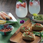 Minted Pea & Fava Bean Crostini Strawberry Mint Vodka Lemonade Cocktails Recipes