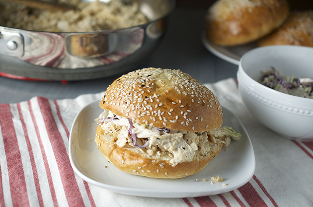 Cooking with Kids: Shredded Chicken Sandwiches