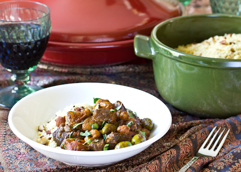 Lamb Tagine with Apricots, Raisins and Olives - The Kitchenthusiast