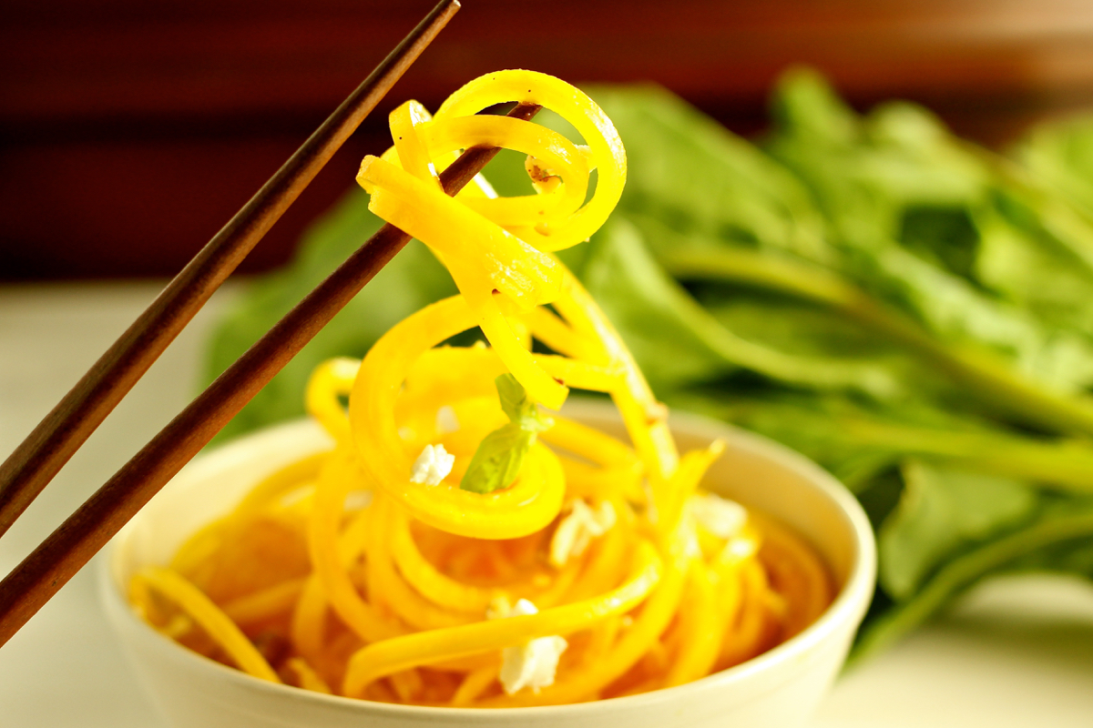 Raw Food Series: Ginger Gold Beet Noodles