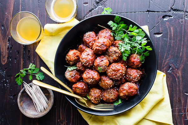 Gluten-Free Tangy Pineapple Turkey Meatballs Recipe