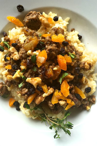 South African Bobotie-Spiced Risotto