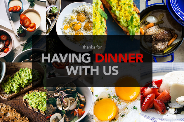 Have Dinner With Us: A Meal To Remember
