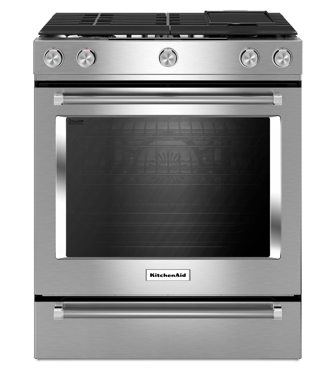 KitchenAid Gas Convection Slide-In Range with Baking Drawer