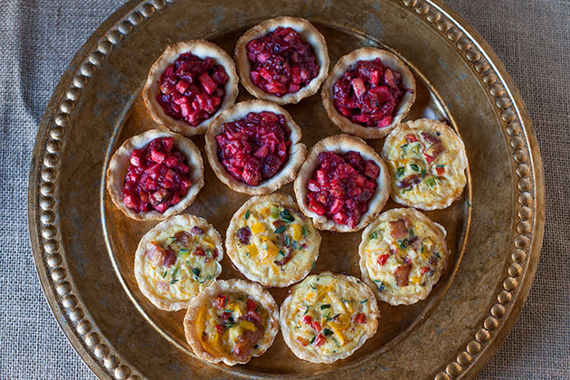Mini Sweet and Savory Tarts for the Holidays