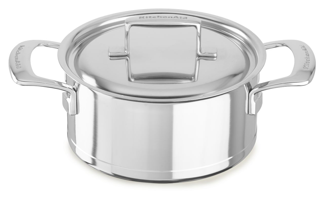 KitchenAid® Professional Seven-Ply 3.0-Quart Low Casserole with Lid