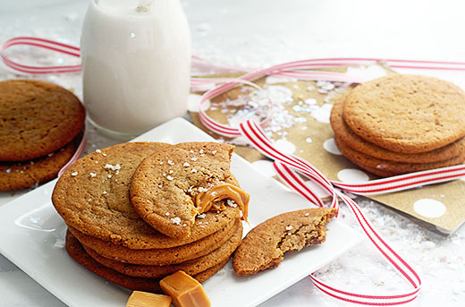 Salted Caramel Ginger Cookies