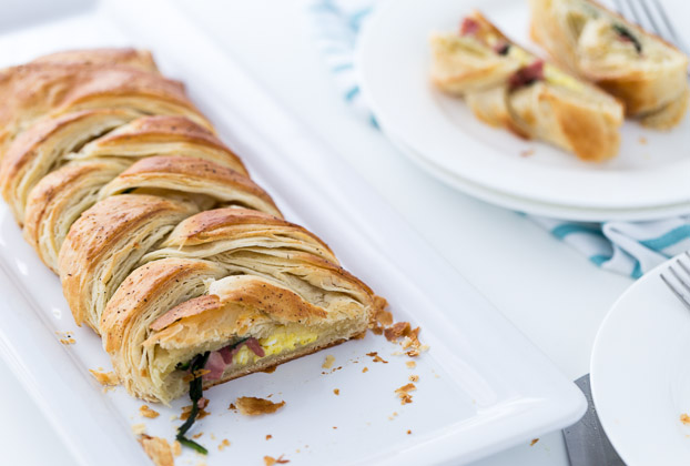 Savory Spinach and Bacon Breakfast Danish