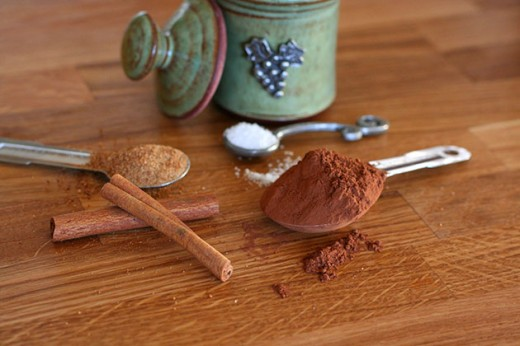 Spices and cocoa powder