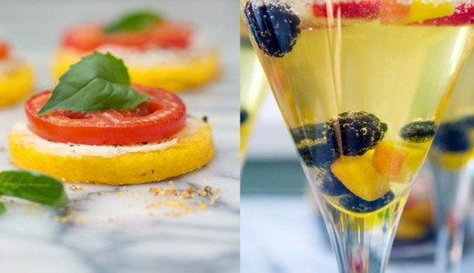 Mini Gluten-Free Polenta Pizzas and Summer Sangria Recipe