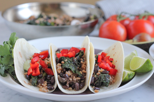 Vegetarian Farro Soft Tacos Recipe