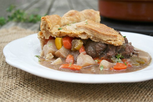 Homemade Beef and Vegetable Pie