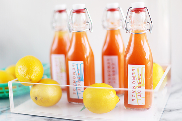 Carrot Lemonade Spring Party Favors