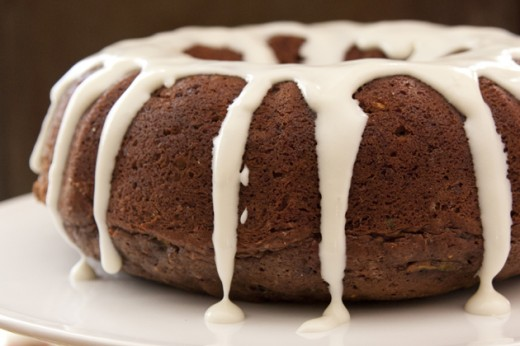 Mexican Chocolate Zucchini Cake with Cream Cheese Glaze Recipe