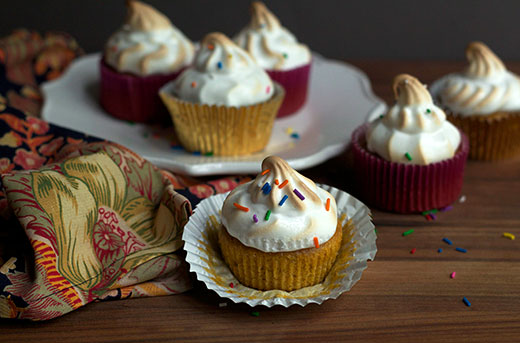 Sweet Potato Cupcakes with Toasted Marshmallow Recipe