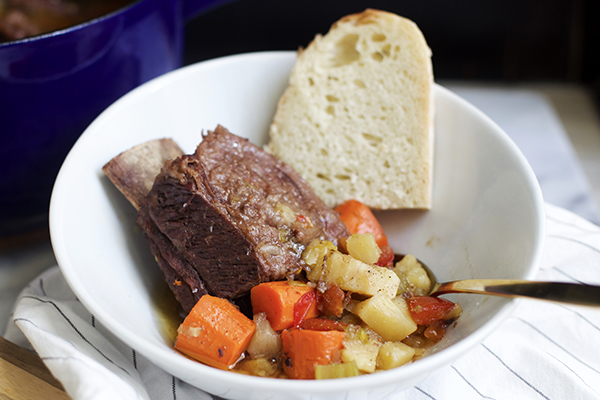 Beer Braised Short Ribs with Root Vegetable Recipe